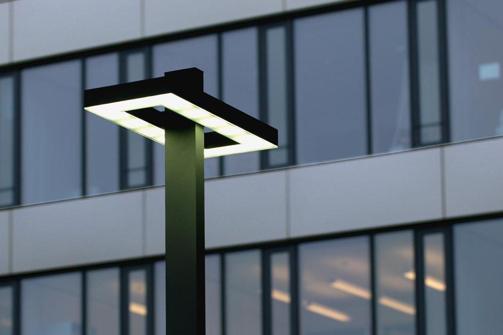 Eine Objektleuchte spendet modernes LED-Licht